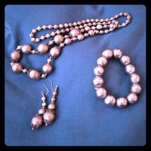 Gray Necklace set